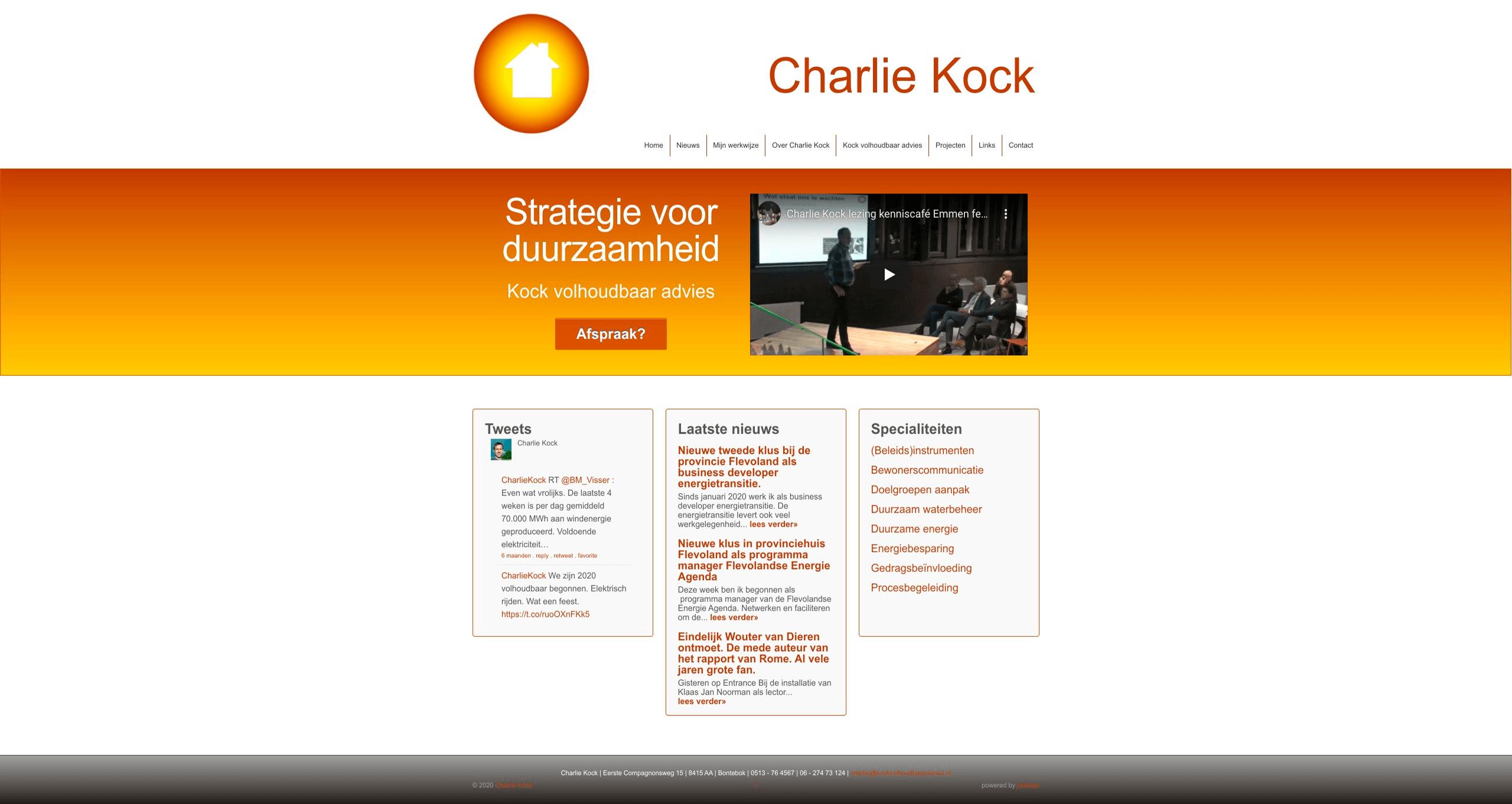Charlie Kock Bouwen aan de toekomst met Kock volhoudbaar advies