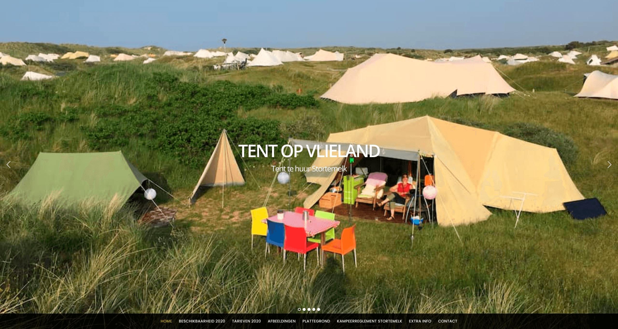 Huurtent op Vlieland Tent te huur op Stortemelk Vlieland